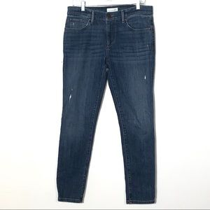 LOFT distressed relaxed skinny jeans medium wash